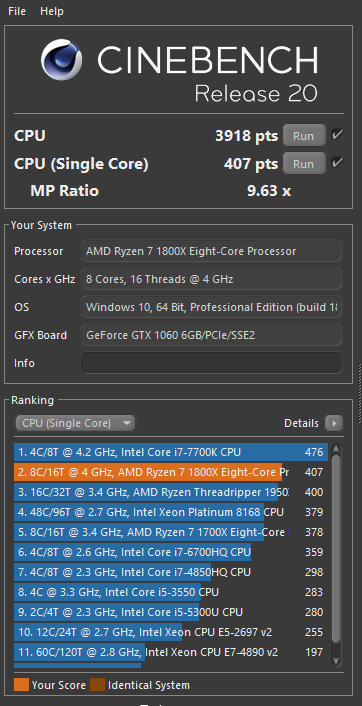 Post Your Cinebench R20 Scores Here | Community