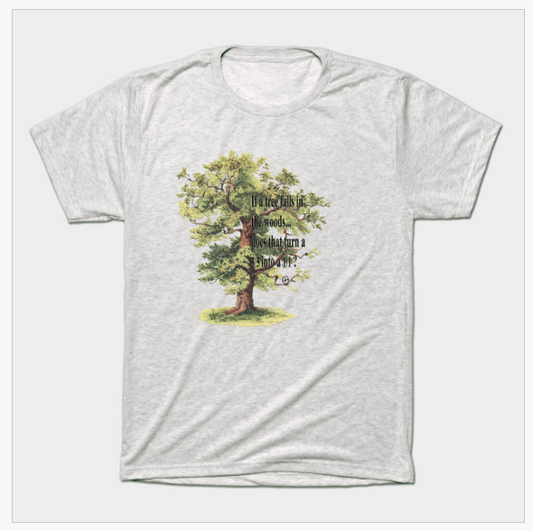 men's vintage white if a tree falls geocache classic t-shirt