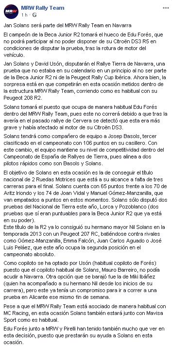 CERT: 4º Rallye Circuito de Navarra [21-22 Septiembre] 82d4cd972107e048a61a80c8cae8c974