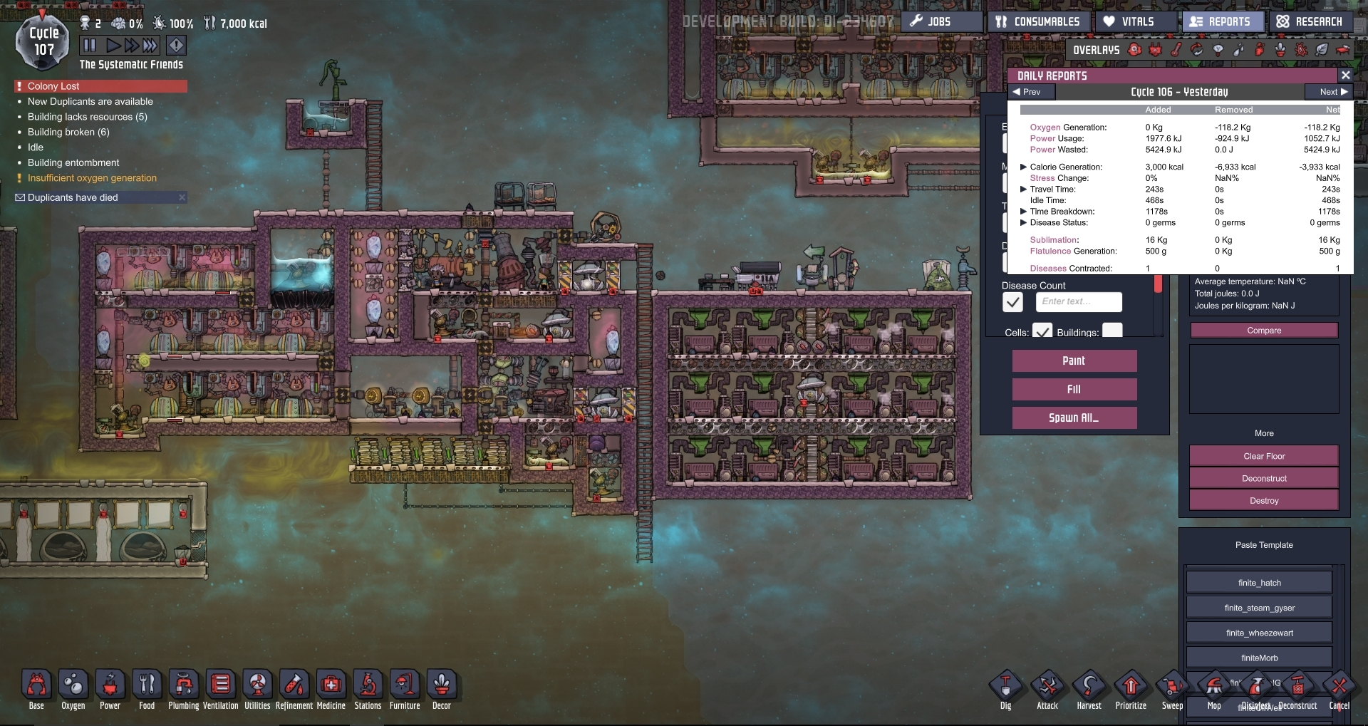 Experiments with the Petroleum Generator, Take 2 : Oxygennotincluded