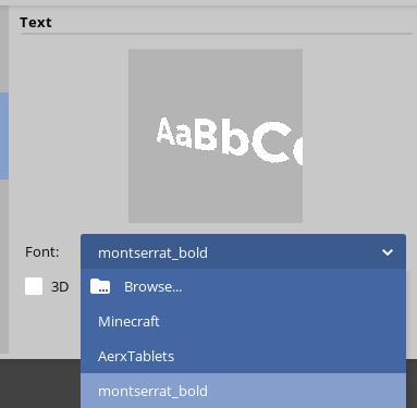 How to change the text font? - Mine-imator help - Mine