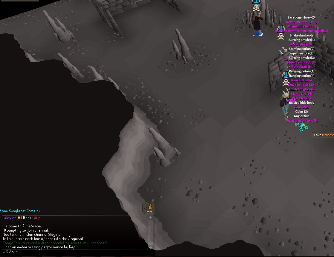 OSRS] DK + Vendetta Hit Up The Caves - Clan Fights & Events
