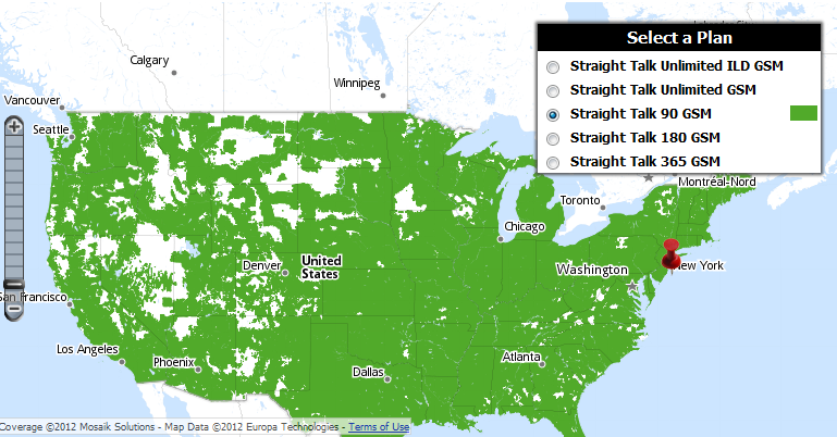 Plans Comparison Of TMobile MVNO Services And Options - At andt service map