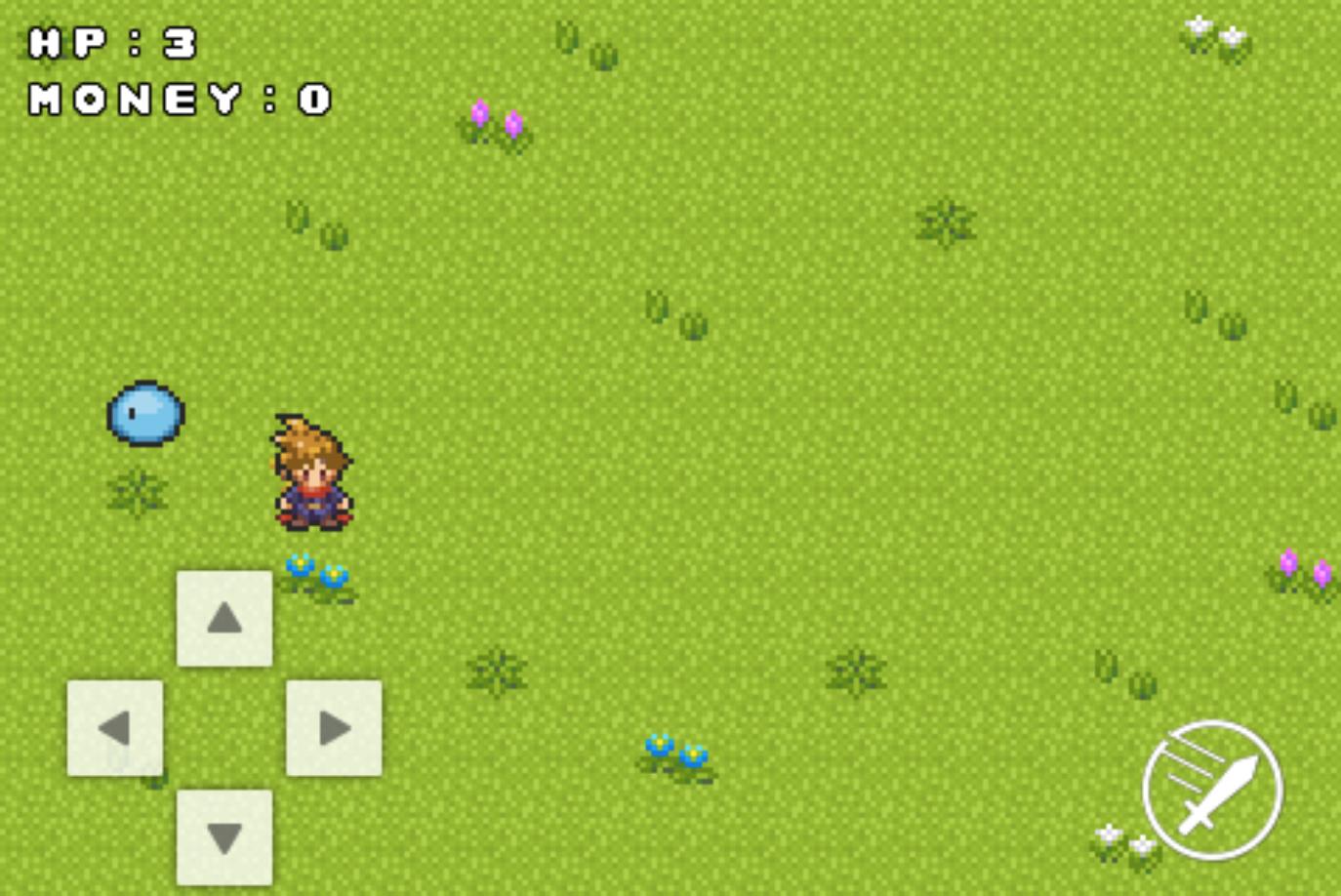 スライムが追加されたゲーム画面