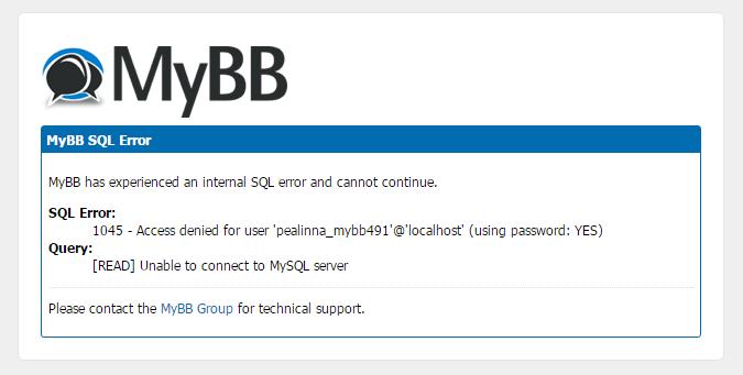 MyBB SQL error 881bfe0966f48b9f9f44e8e67d4e36c2