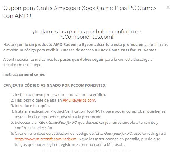 [VENDO] Código AMD Rewards - 3 Meses de Xbox Game Pass PC Games