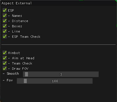 Aspect External Aimbot Esp Exploit