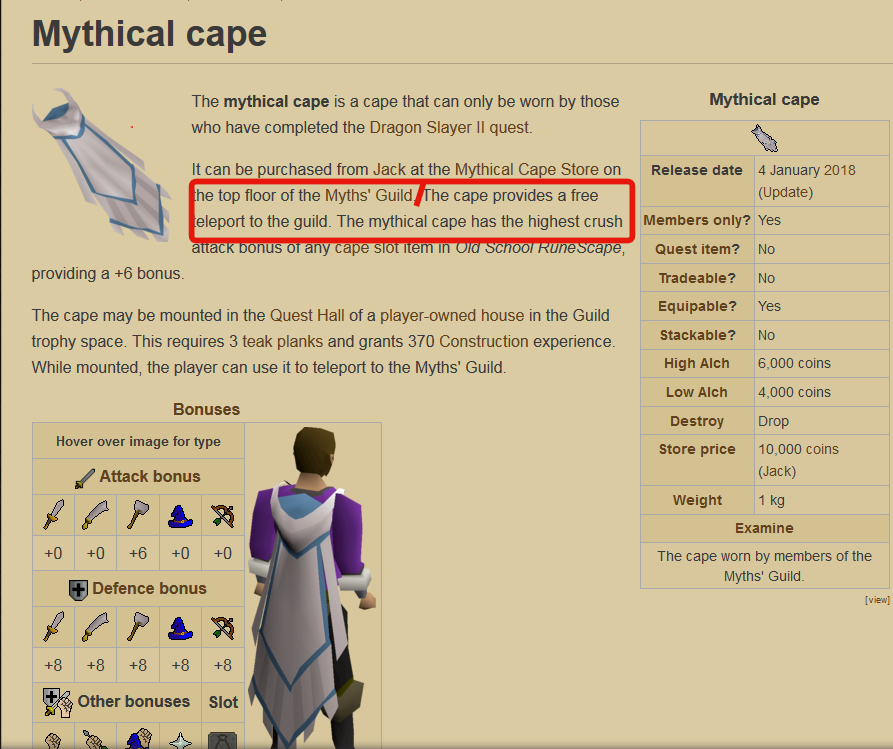 Game suggestion] Mythical Cape operate option - Handled Suggestions