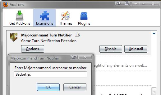 Major Command Game Turn Notifier
