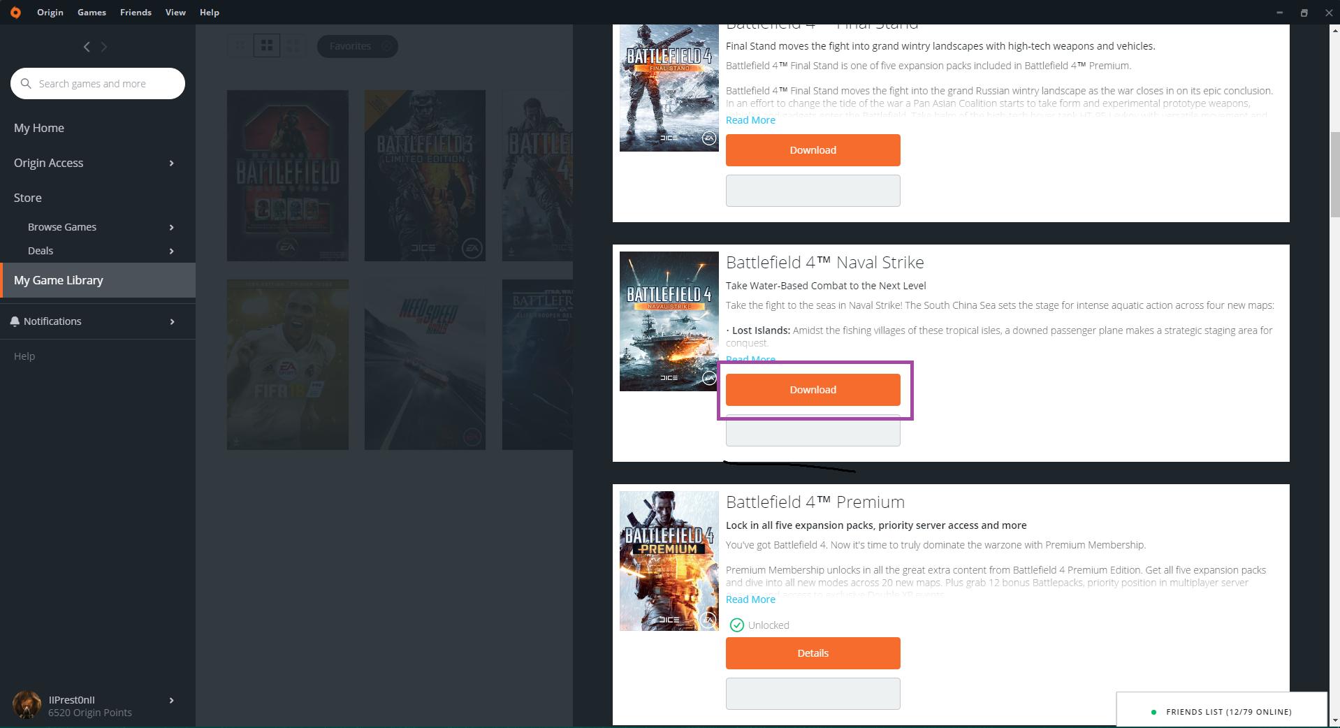 Can't download a DLC — Battlefield Forums
