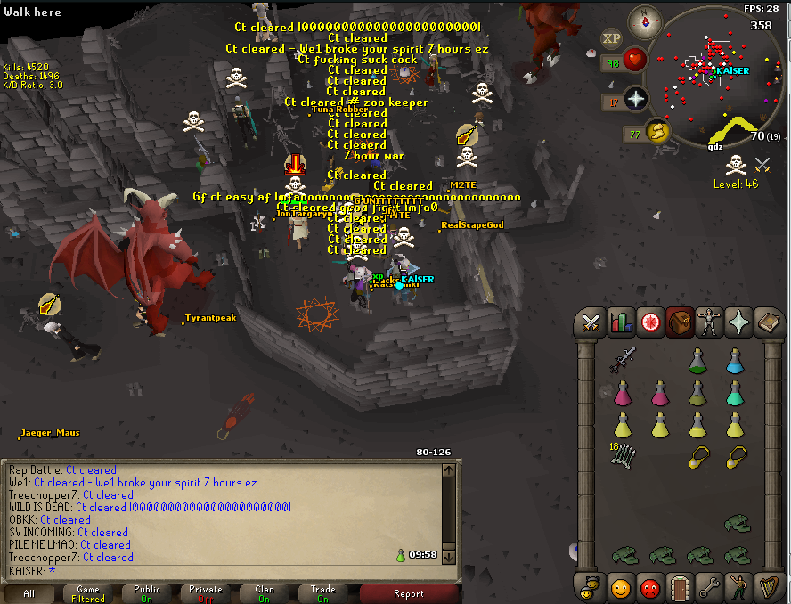 OSRS] Sovereign + Friends vs [a salty] CT + DK + RoL 7 hour