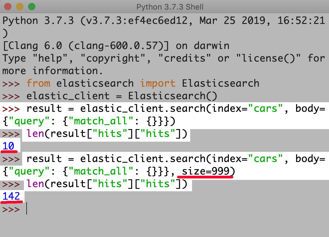 How To Use The Search API For The Python Elasticsearch