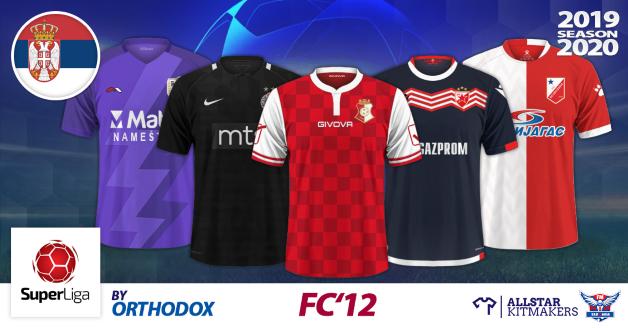 Football Manager 2019 Kits - FC'12 - Serbia - Linglong Tire Super Liga 2019/20