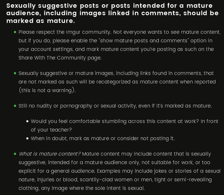 am i the only one getting frequently reported imgur community