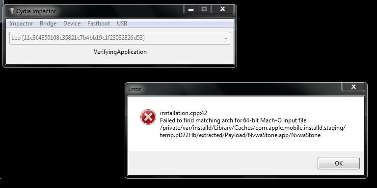 Cydia Impactor Error (Installation cpp:42) | Se7enSins Gaming Community
