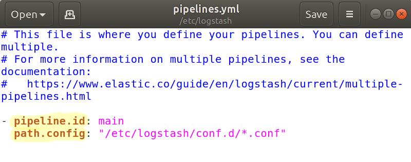 Logstash Pipeline YAML File