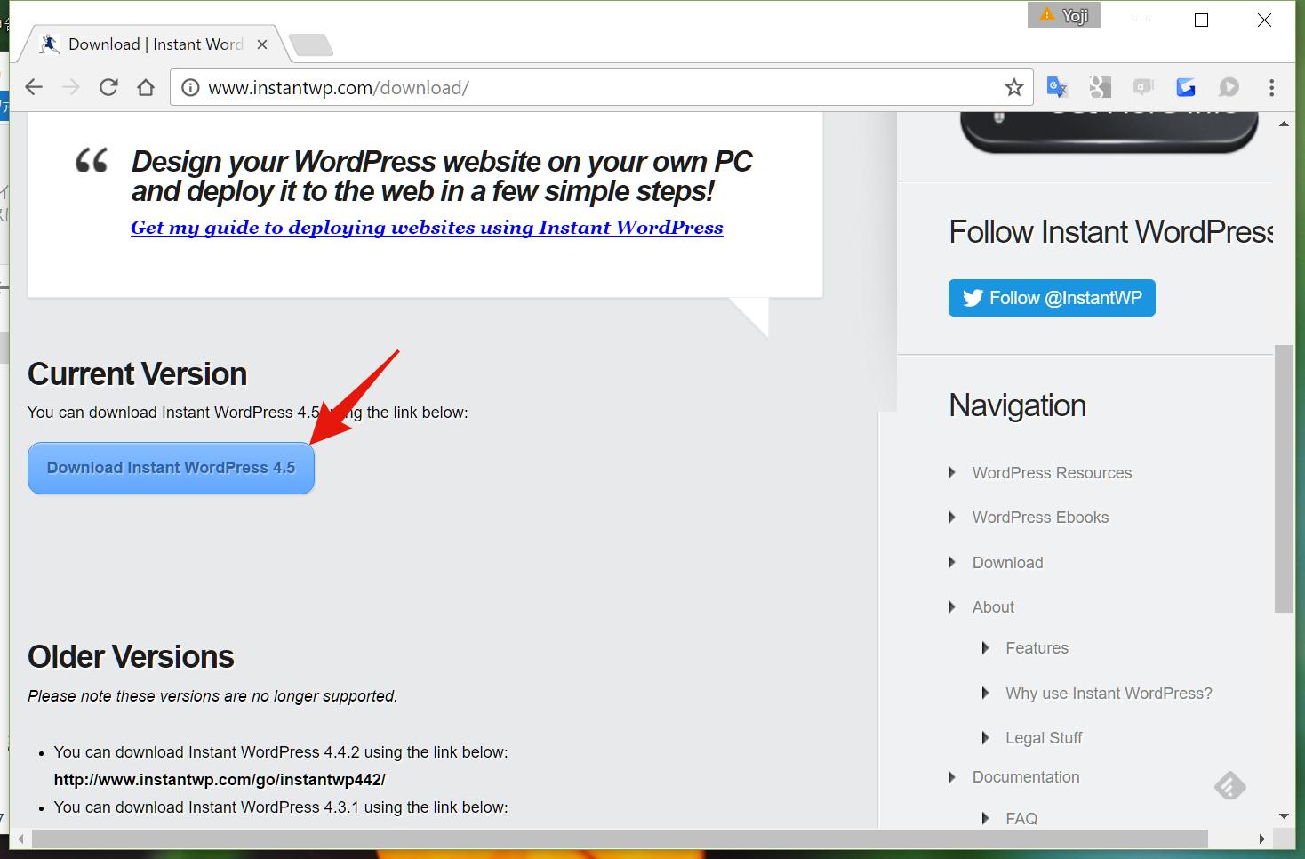 instant wordpress download button