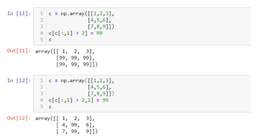 Numpy arrays indexing/assignment question, code that looks like it should  work, doesn't - Stack Overflow