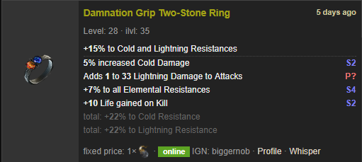Lighting To Cold Ring Poe