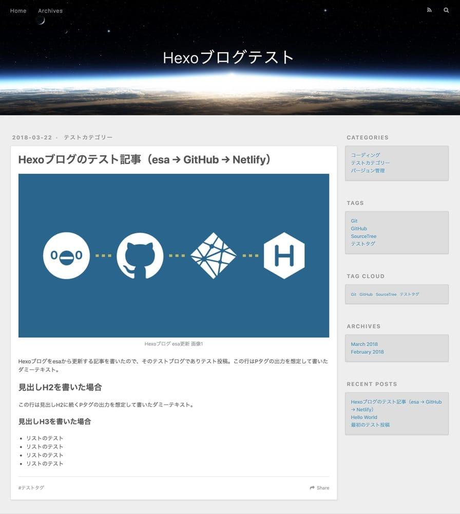 Hexoブログ esa更新 画像5