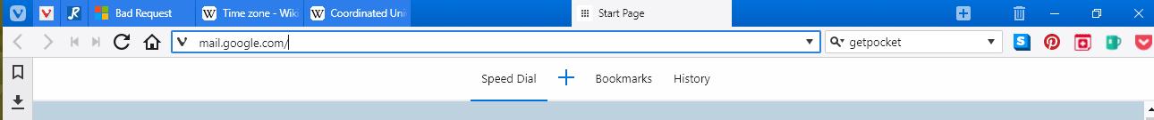 alt screenshot of Vivaldi tab bar