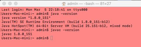 Java troubleshooting Mac users java 9 to java 8 - Tutorials