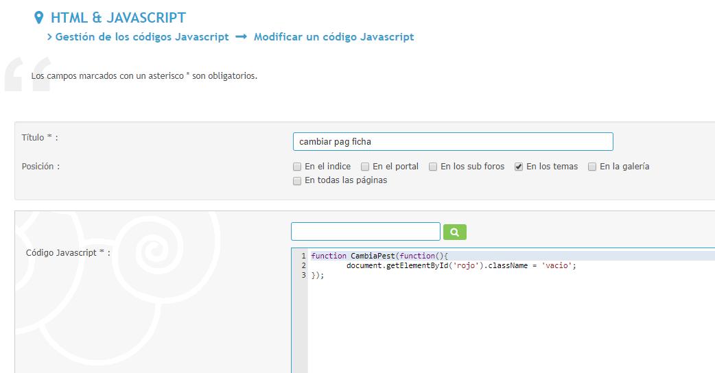 Las propiedades y sentencias Javascript incluidas en los elementos HTML añadidos en los mensajes no se ejecutan en el foro 94b92bfb1d032f158bbda2084c48adac