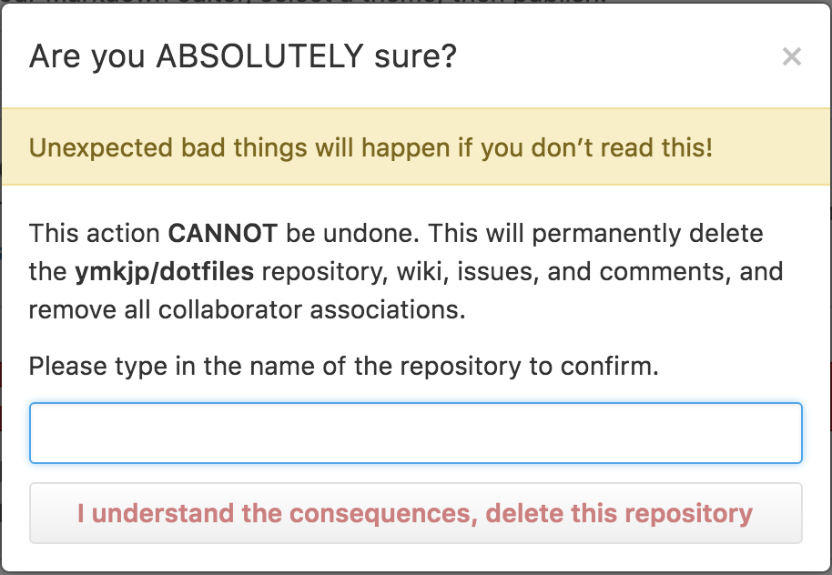 Are you ABSOLUTELY sure? - github.com
