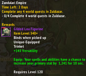 340 Trinket up for NA Horde Emissary : wow
