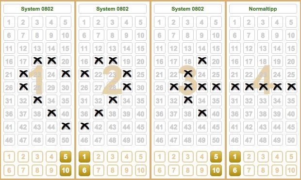 Lottoschein Muster