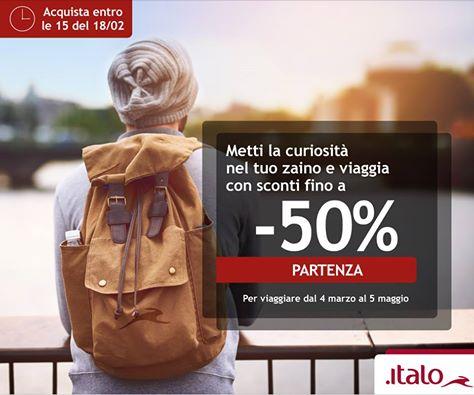 Offerte Italo Treno Codice Sconto Febbraio 2019