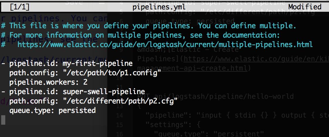 Elasticsearch – How To Configure Multiple Pipelines In