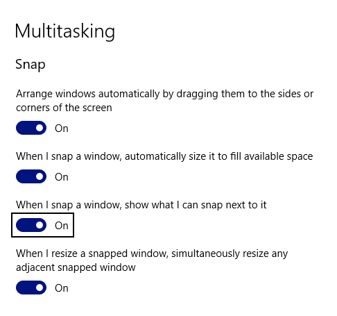 bug|misconfig] Window Snapping + Windows Multitask Snap