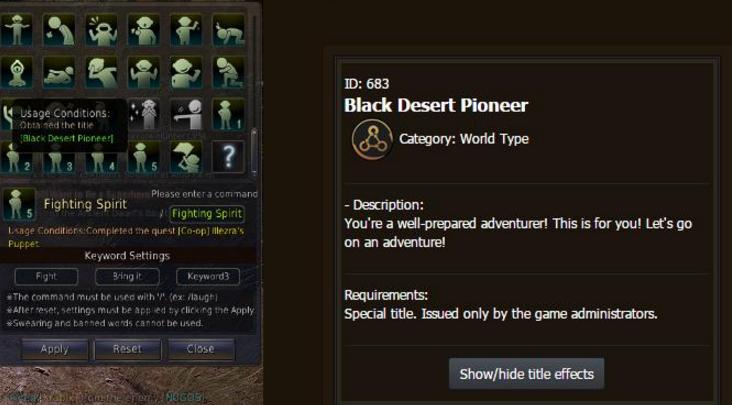 Black Desert Pioneer