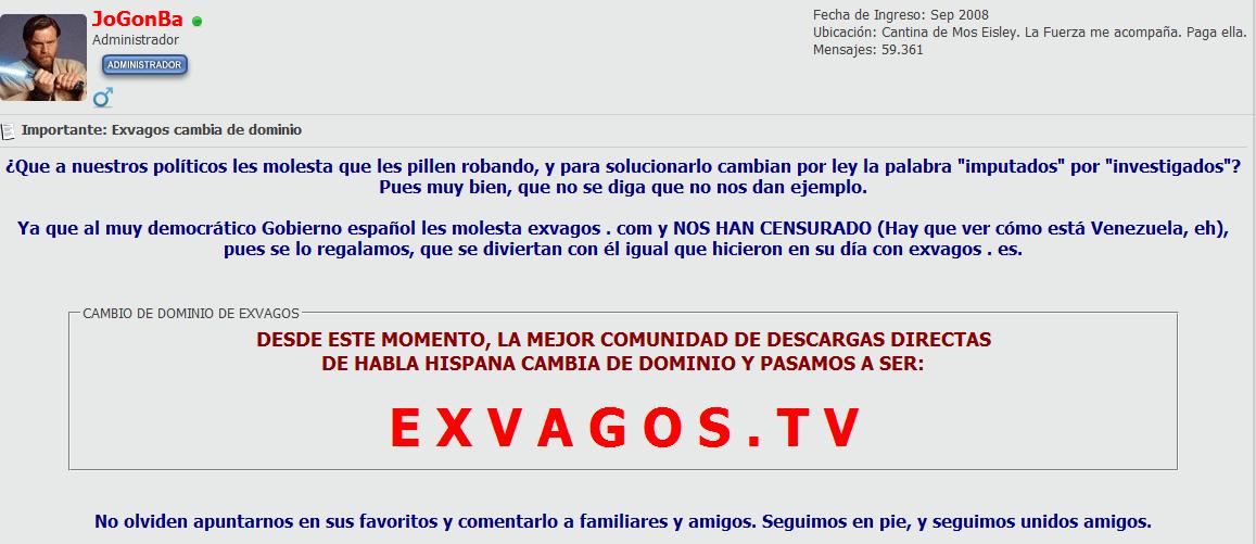 Goear y Exvagos dejan de estar disponibles en España: la Comisión Sinde ordena su bloqueo  9ad00775c806ab915fd151438e2f9224