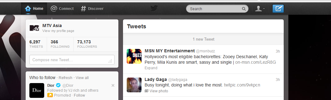 MTV Asia Twitter Account Hacked