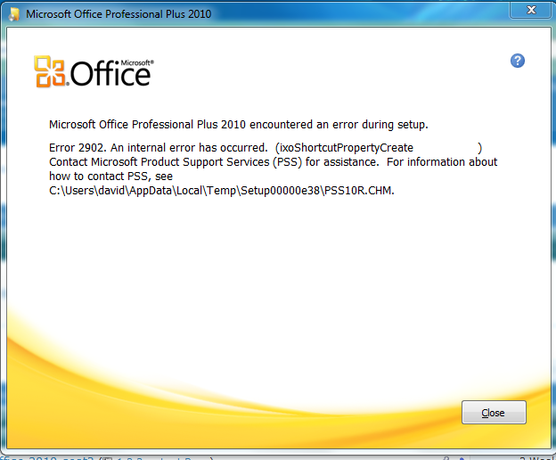 Installing Office 2010 Error 1935 Windows 7 Help Forums
