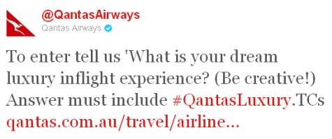 #QantasLuxury Twitter