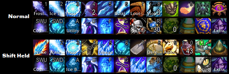 What are your keyboard/mouse binds on a frost mage pve?