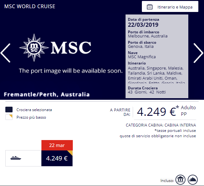 Crociera MSC World Cruise