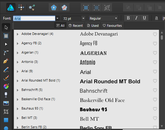 Only Arial shows up in fonts [AD 1 6 1 MacOS 10 13 4