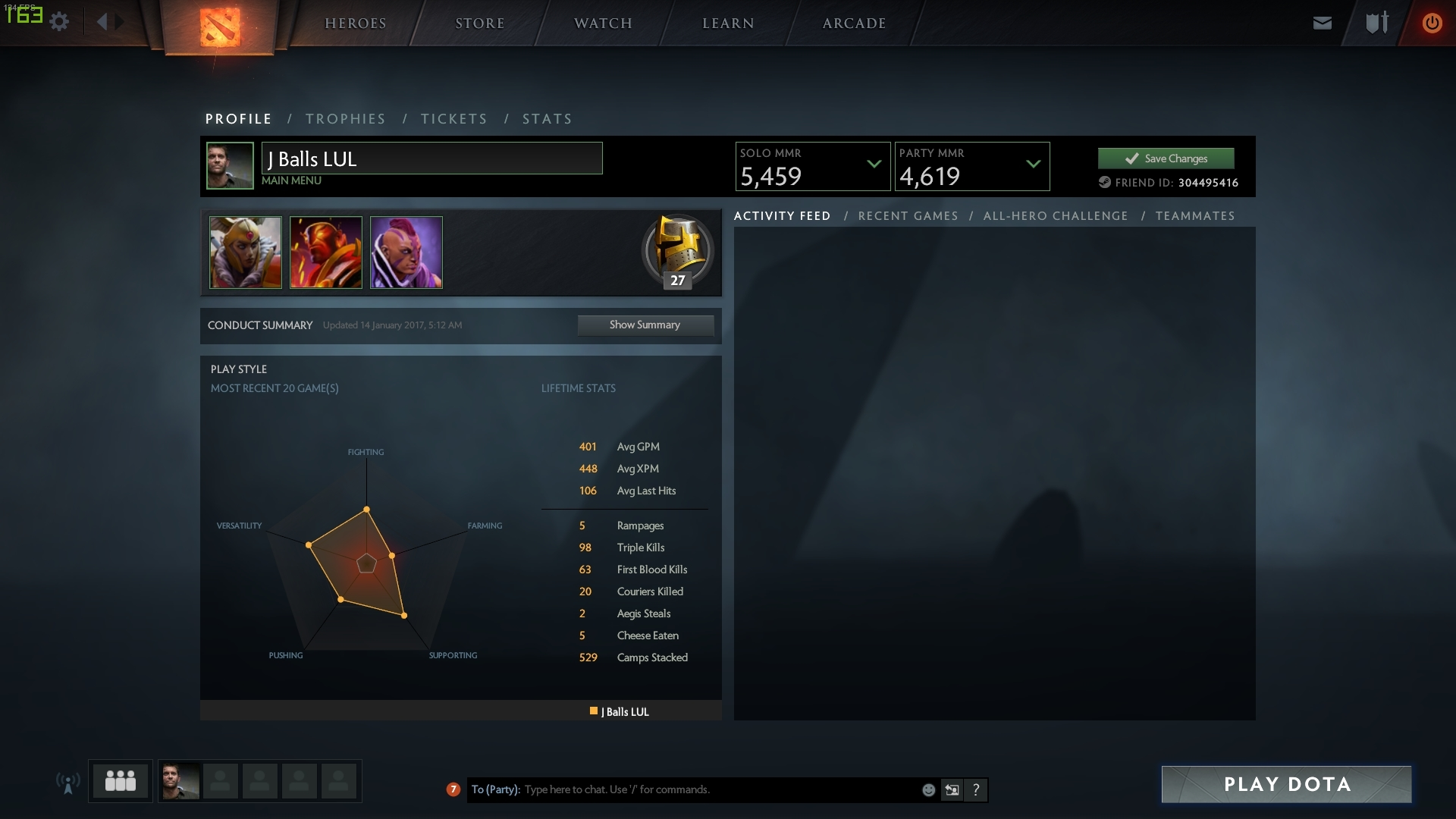 sold dota 2 5 5k solo 4600 party playerup accounts marketplace