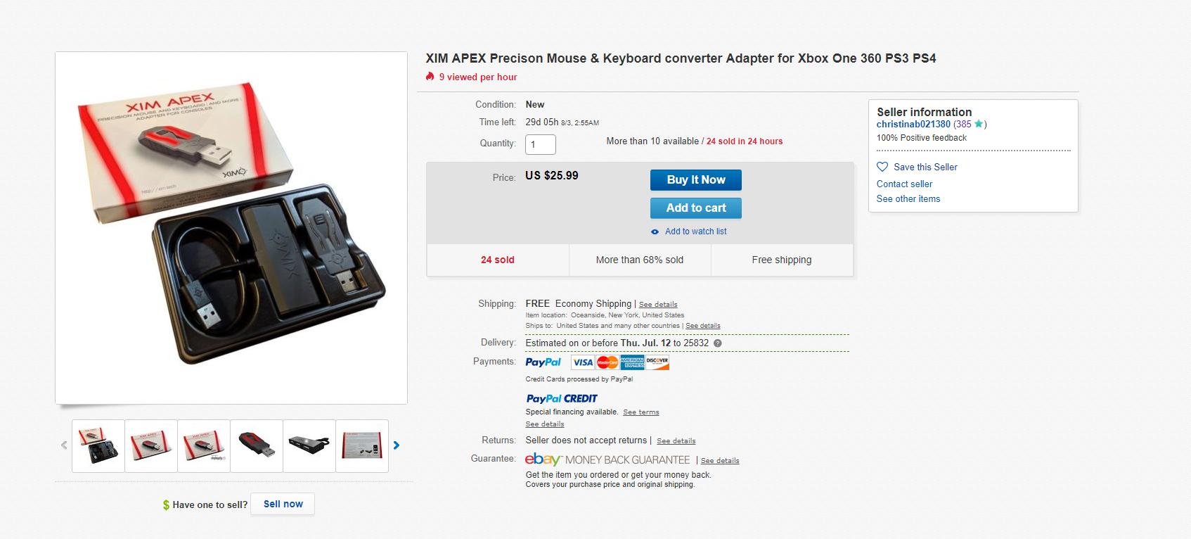 Ebay Xim Apex? Too good to be true?