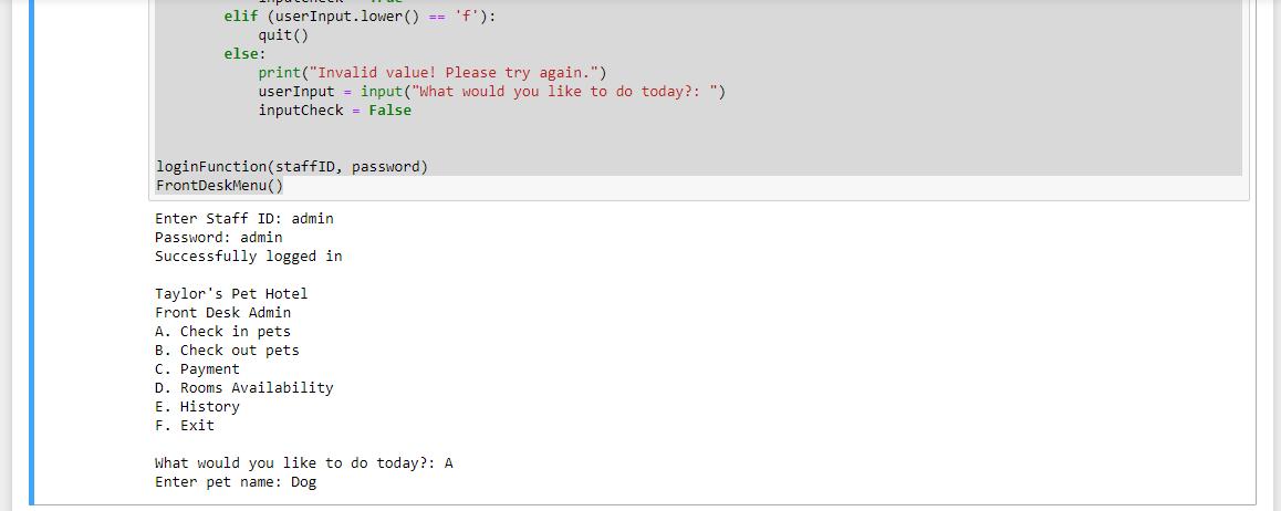 Code Output
