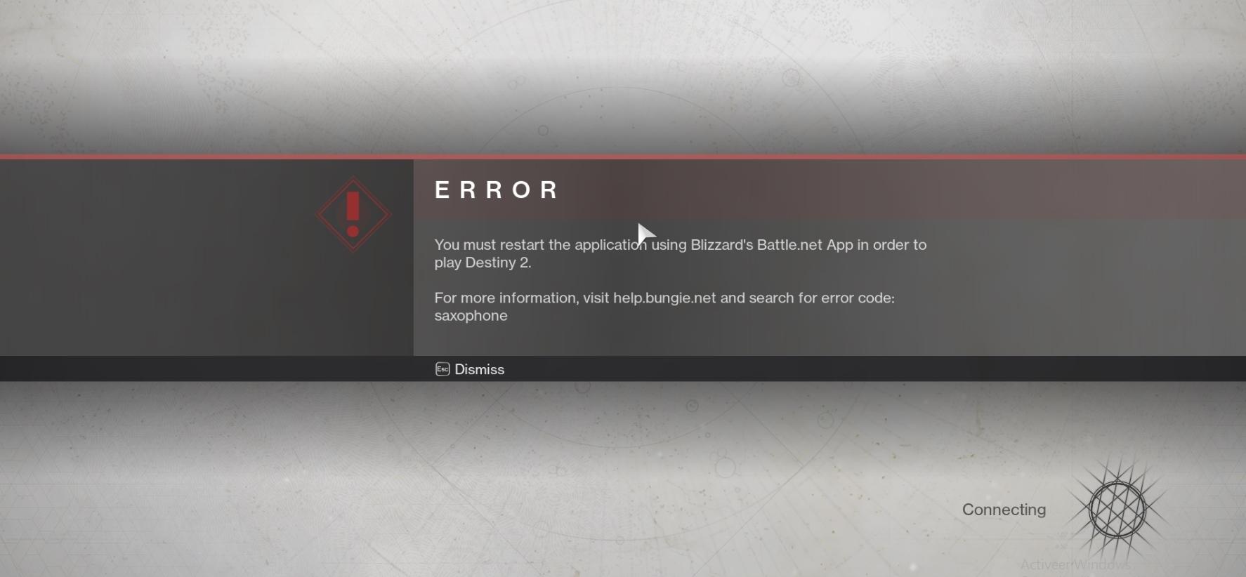 Help Pc Beta Saxophone Error Code Destinythegame