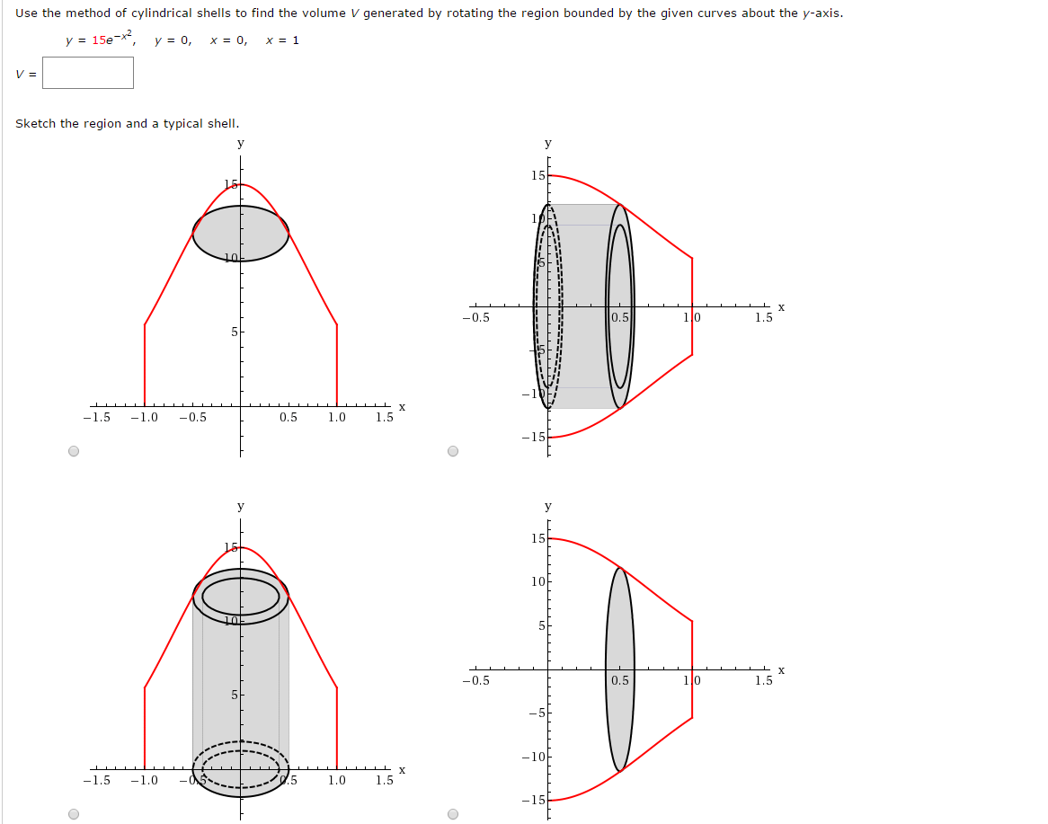 Question: Use The Method Of Cylindrical Shells To Find The V