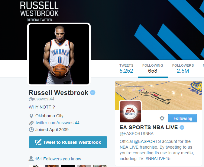 NBA Live 16 Cover Athlete is Russell Westbrook, Official