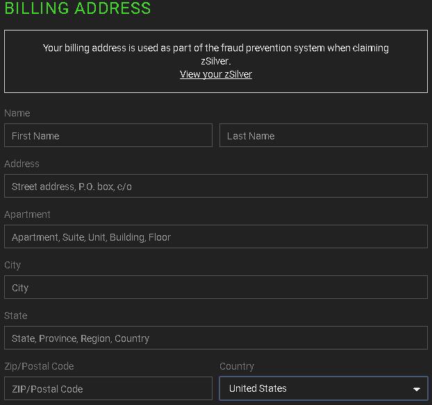 Razer Cortex zVault billing address | Tom's Hardware Forum