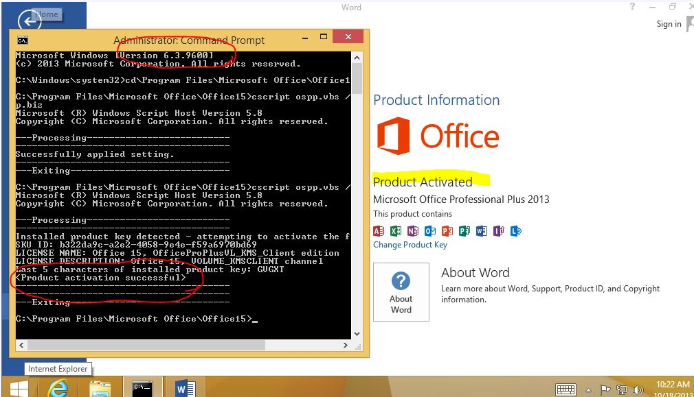 Office 2013 KMS activator windows 8.1