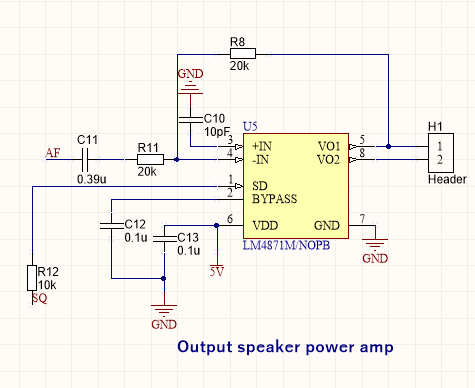LM4871 audio amp